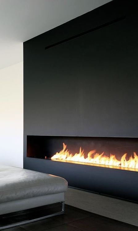 recessed ethanol fireplace