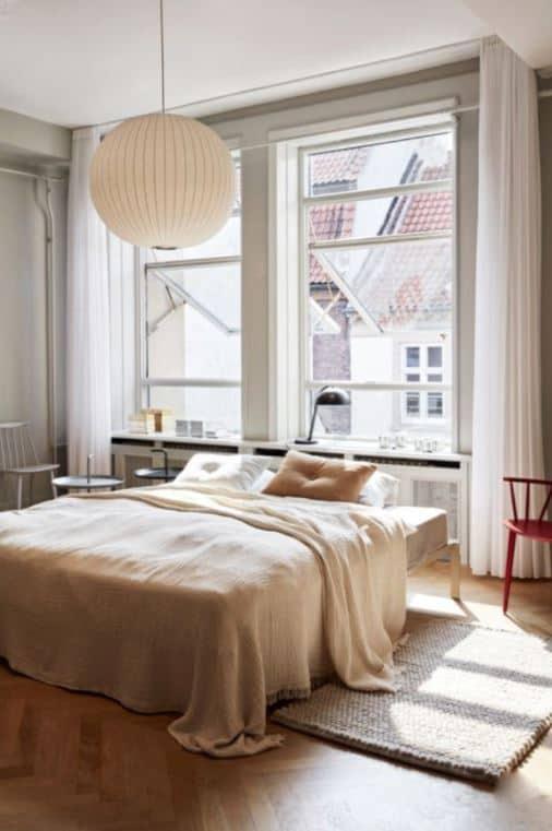 paper lantern in bedroom