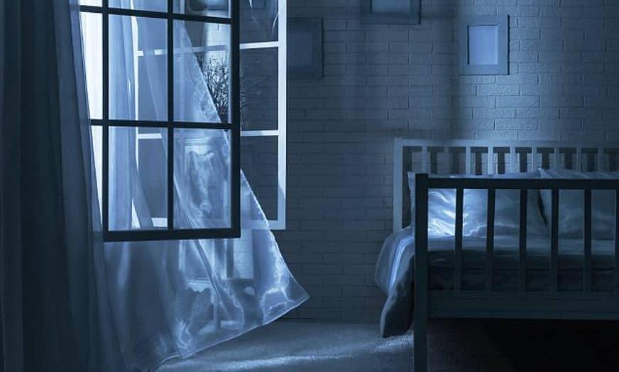 window open at night