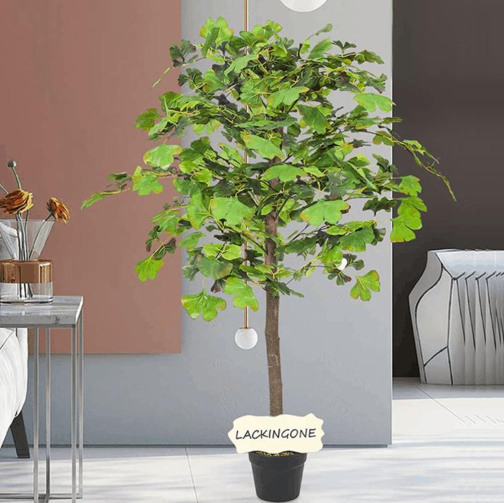 Lackingone Artificial Ginkgo Biloba Tree