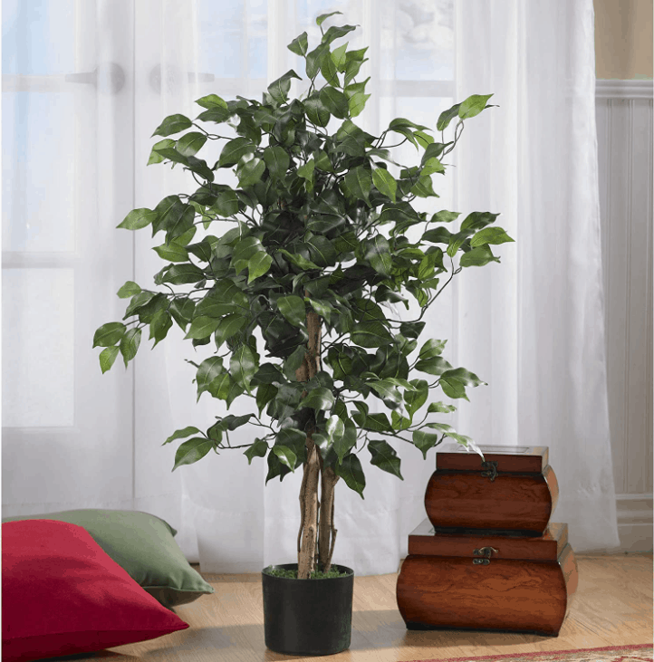Nearly Natural Ficus Silk Artificial Tree
