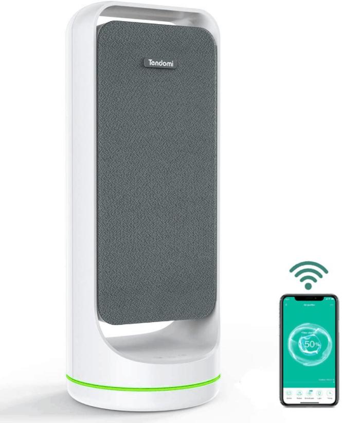 TENDOMI WiFi Smart Air Purifier with True HEPA