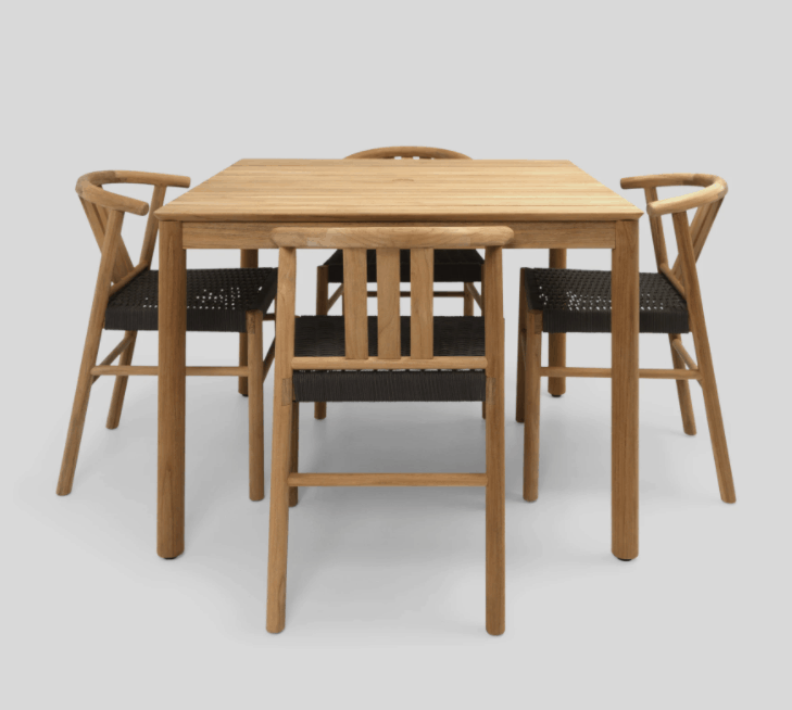 Durable teak outdoor dining set