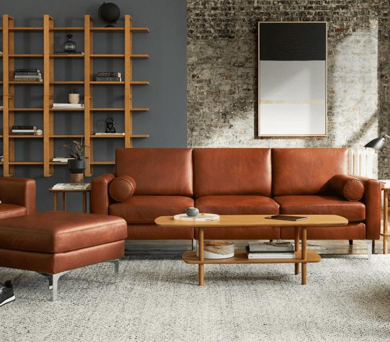Block Nomad Leather Sofa