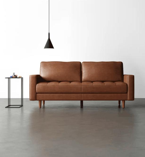 Clark 80.1'' Genuine Leather Sofa