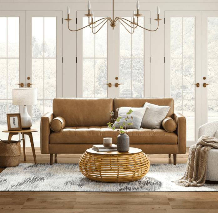 Madison Leather 3 Seater Sofa