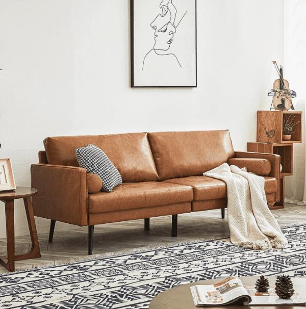 Vonanda Faux Leather Sofa Couch